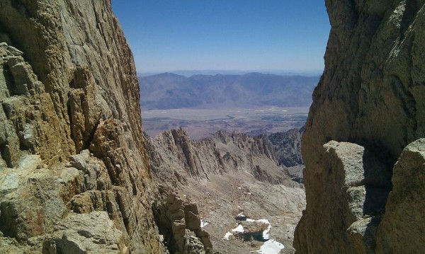 View from a lookout just south of Mt. Whitney