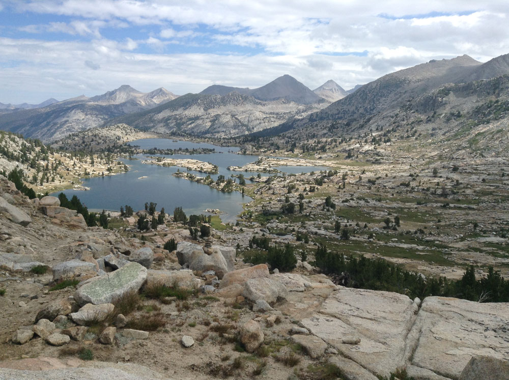 Endless beautiful views on the John Muir Trail