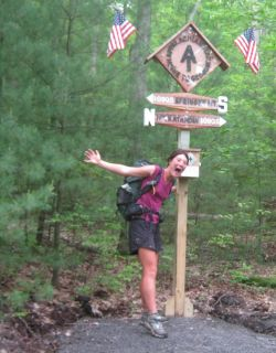 At the 1/2 way point on the Appalachian Trail