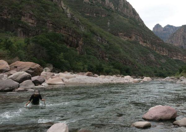 Fording The Rio Verde, Sinforosa Canyon - Copper Canyon, Mexico