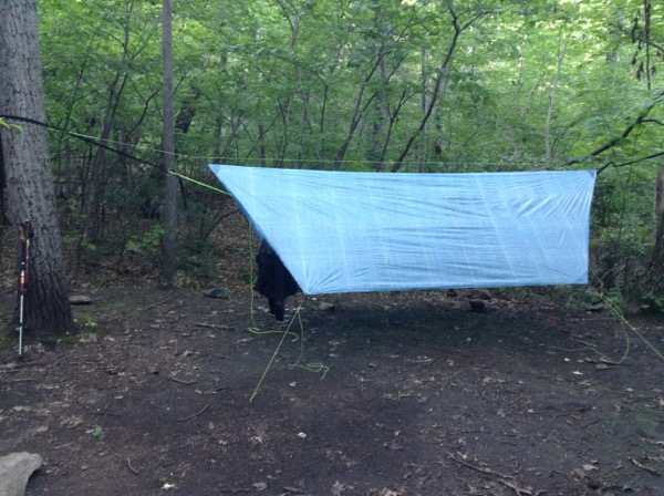 SweetPea's Hammock Tarp on the AT in 2013