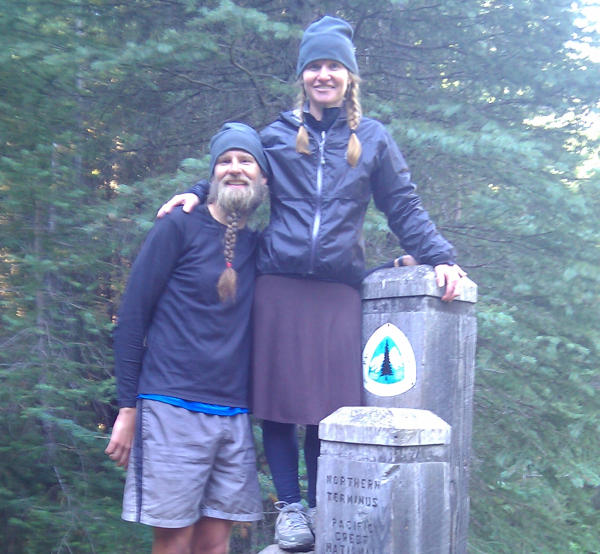 At the finish of Beardoh's 2012 PCT thru hike