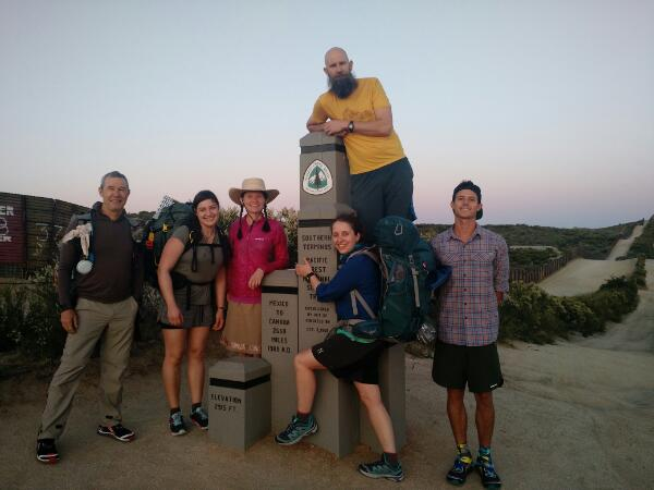 First day on the trail. Southern Terminus (Mexico/California border)